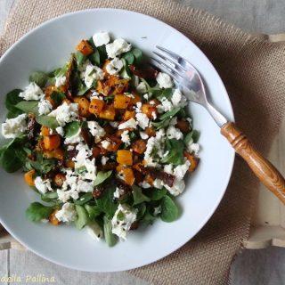 insalata con zucca arrosto e feta greca