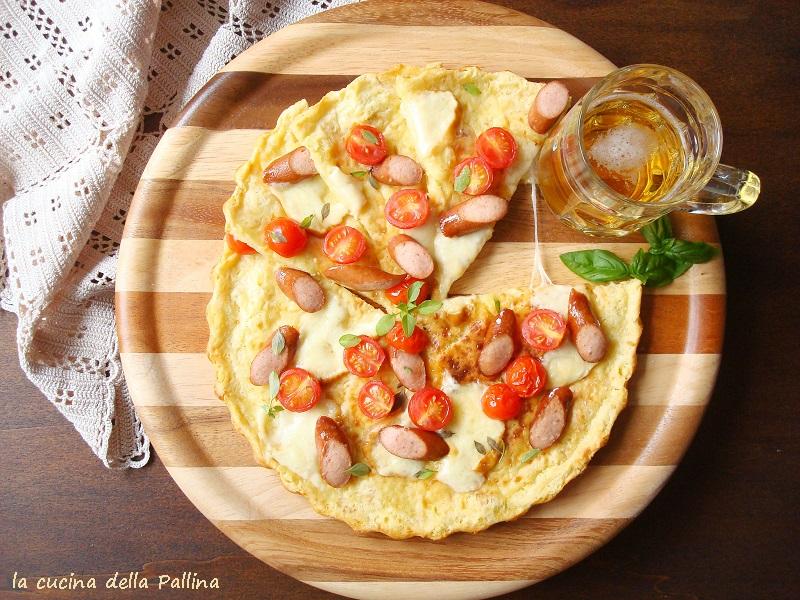 pizza, crespella, Nigella, pomodori, wurstel, scamorza, aperitivo,