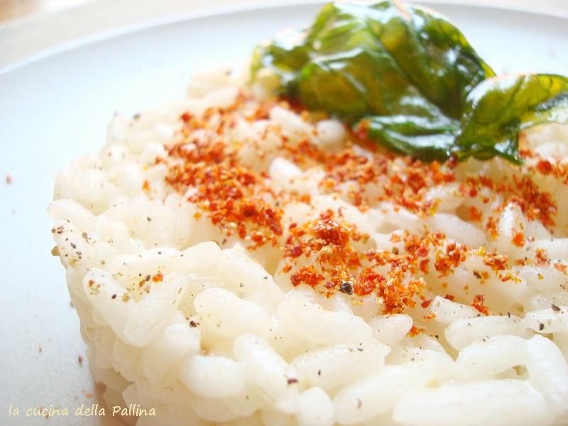 riso, risotto, polvere di pomodoro, essiccazione, cucinare gli scarti,