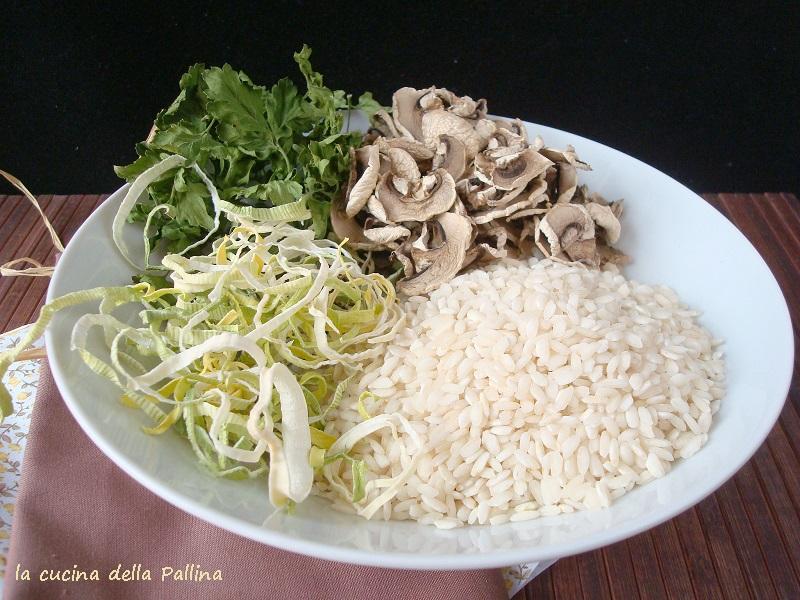 preparato homemade per risotto ai funghi