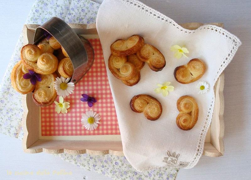 Ventagli di pasta sfoglia con zucchero