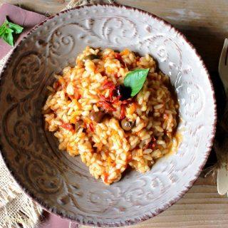 Risotto ai pomodori secchi e olive taggiasche