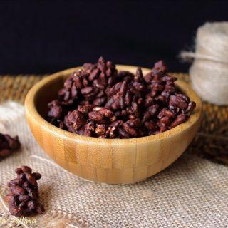 Dolcetti di riso soffiato e cioccolato fondente