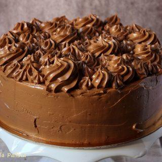 Torta ciocco caffè con crema al burro meringata