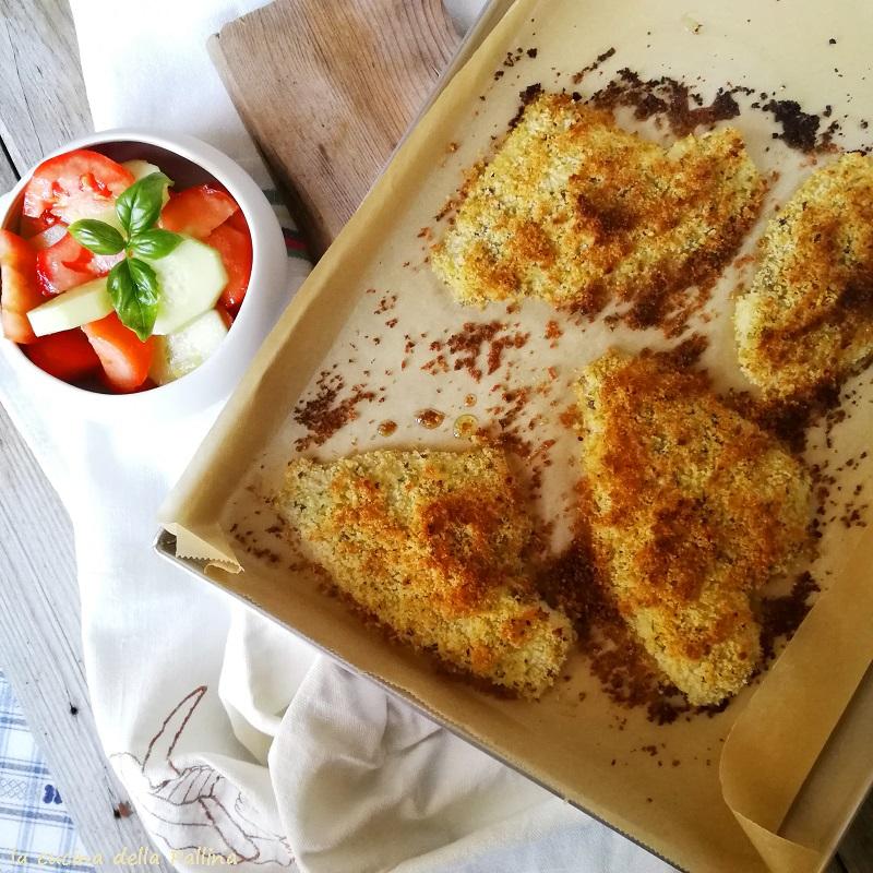 Platessa panata croccante al forno